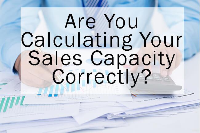 Sales leader calculating sales capacity