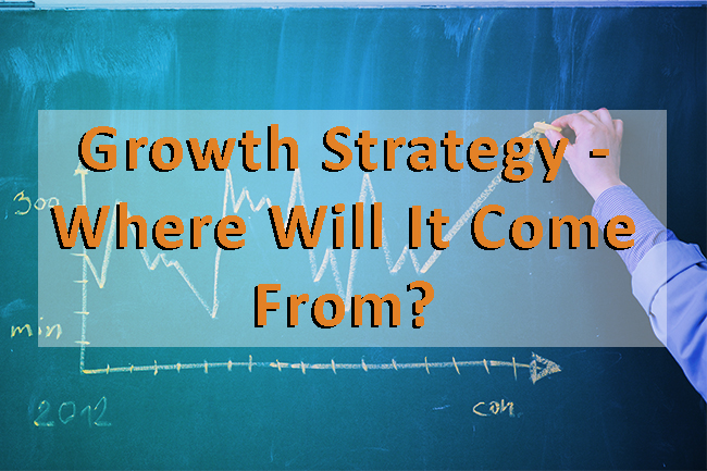 A salesperson writing out their growth strategy