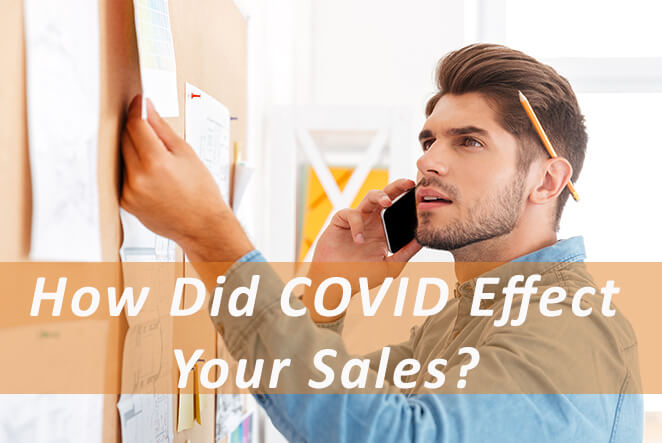 The effect COVID-19 had on sales