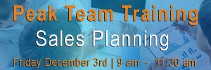 Sales team training sales planning