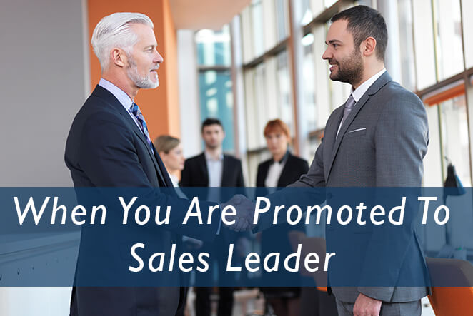 When You Are Promoted To Sales Leader