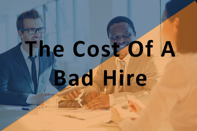 The cost of bad hire two people sit down to interview someone
